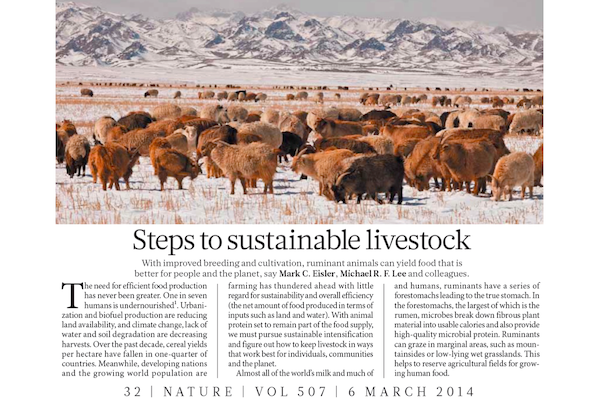 The original collaborative article, published in Nature Journal in 2014, that spawned the Global Farm Platform