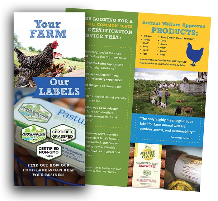 Shop AGW's Branded Farmer Brochure