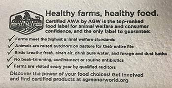 Shop Certified Animal Welfare Approved By AGW Egg Cartons Inside Lid View