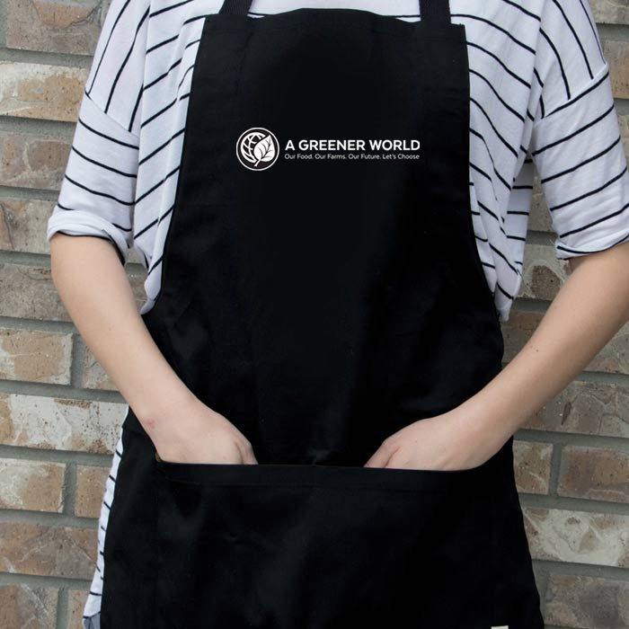 Shop AGW Branded Apron In Black
