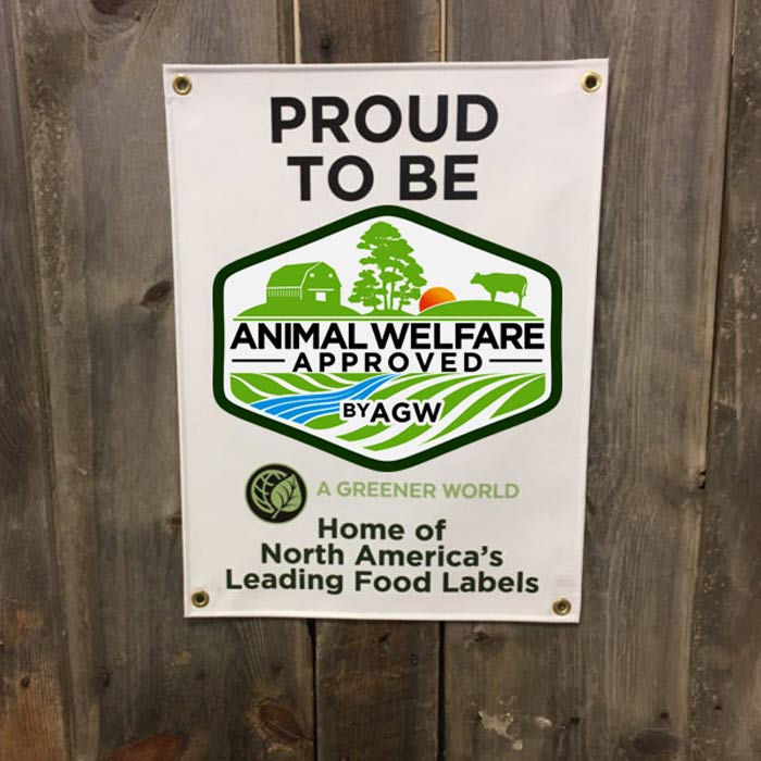 Vinyl Banner (Proud To Be Animal Welfare Approved By AGW)