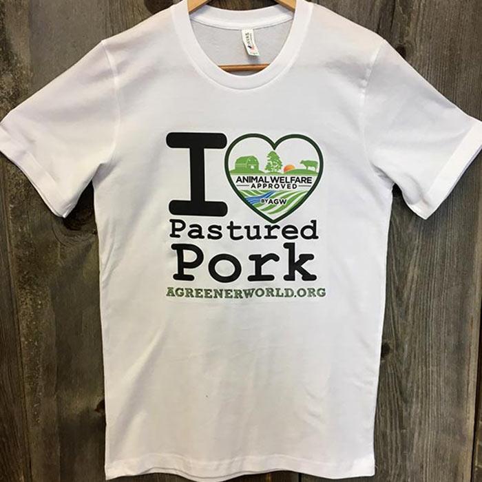 "T-Shirt ""I Heart Pastured Pork"""