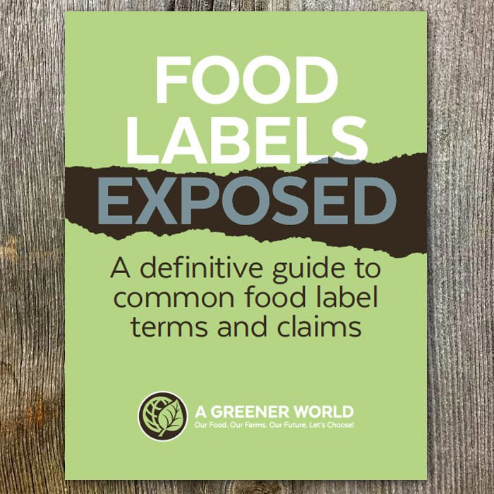 "Shop AGW's ""Food Labels Exposed"" publication."
