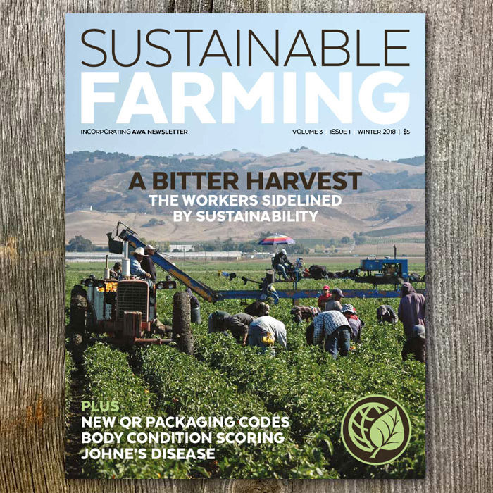 Shop for AGW's Sustainable Farming magazine V3 I1 Winter 2018