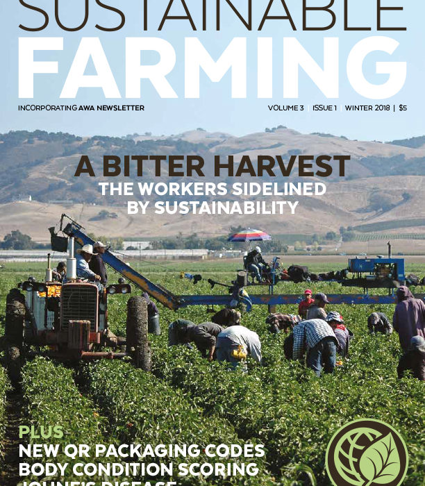 Sustainable Farming Magazine (Winter issue 2018)