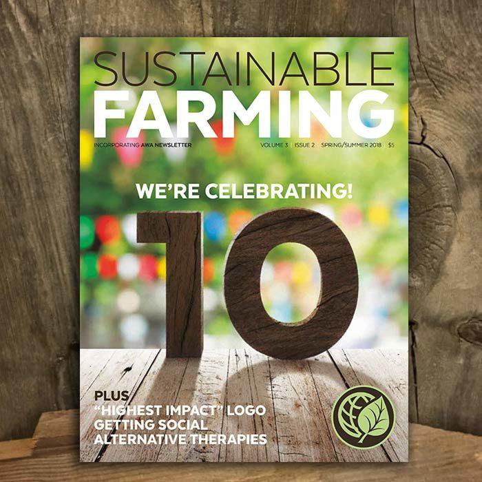 Shop AGW's Sustainable Farming magazine V3 I2 Spring/Summer 2018