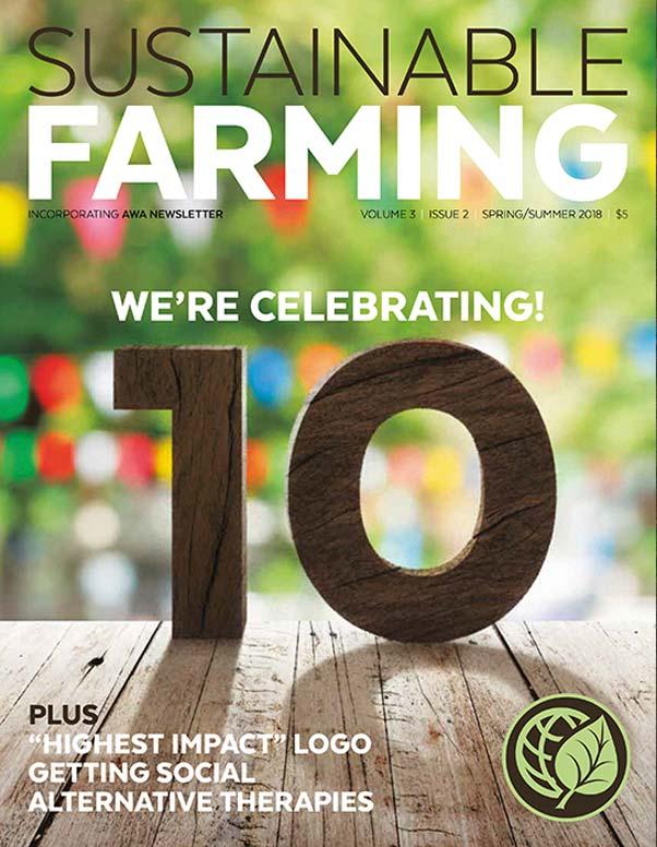 AGW's Sustainable Farming magazine V3 I2 Spring/Summer 2018