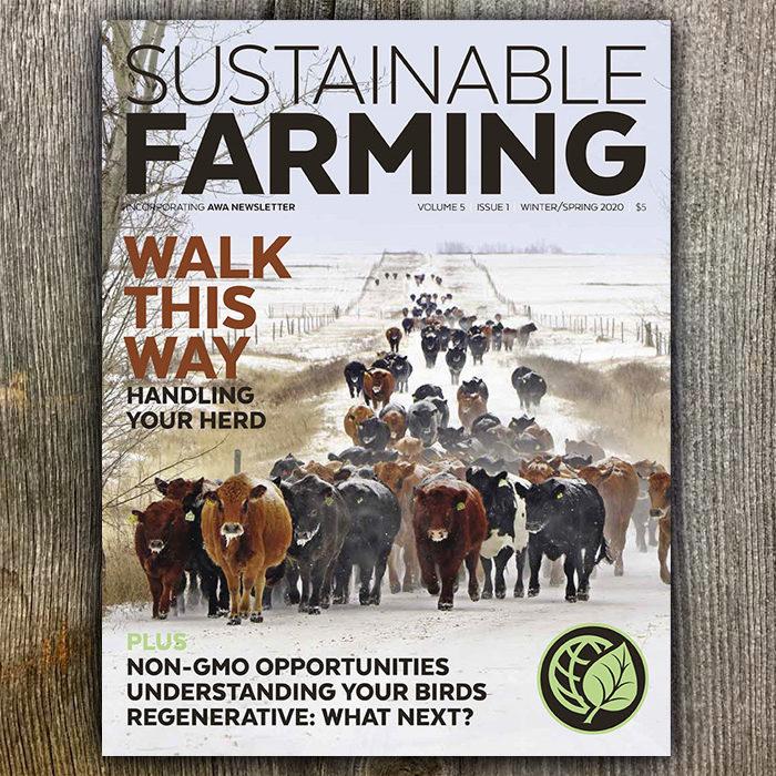 Sustainable Farming magazine V5 I1 Winter/Spring 2020