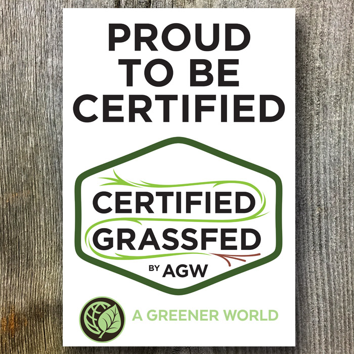 Metal Sign For The UK (Proud To Be Certified Grassfed By AGW)