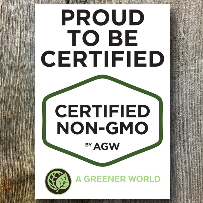 Metal Sign For The UK (Proud To Be Certified Non-GMO By AGW)