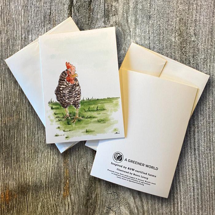 Chicken braned card
