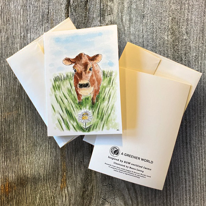 Cow branded card