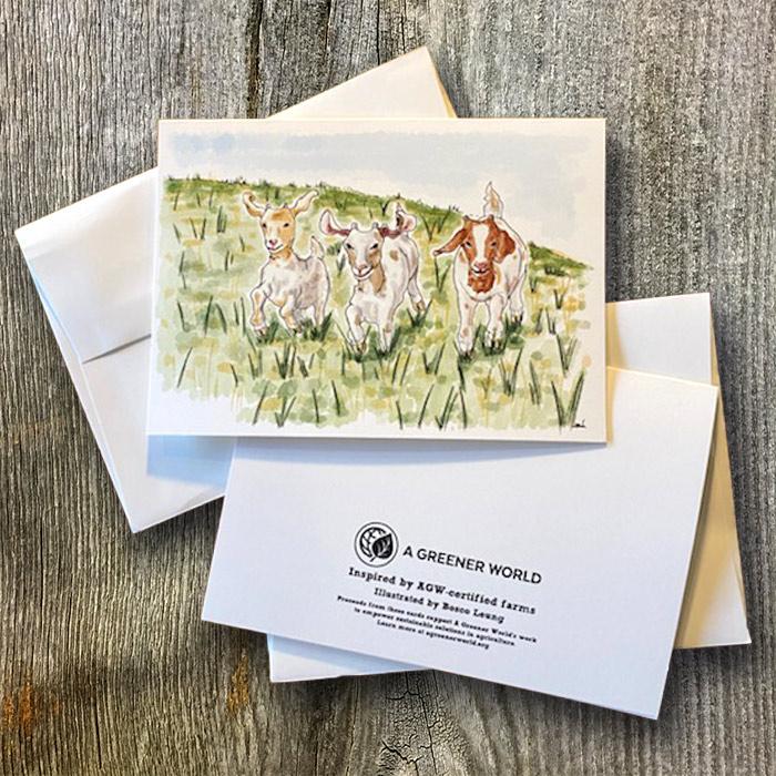 Goat branded card