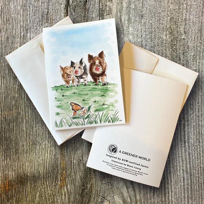 Pig branded card