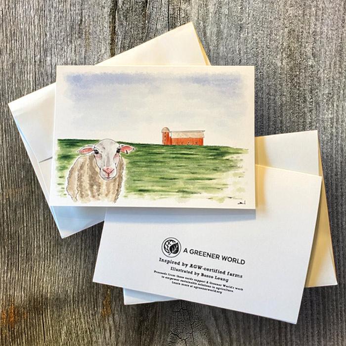 Sheep branded card
